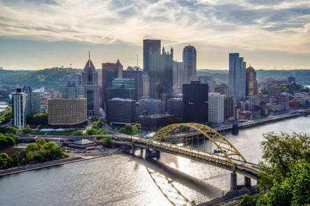 Pittsburgh-The skyline from mount Washington