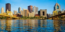 Pittsburgh-The skyline from Ohio river