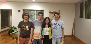Denis Chirita, George Picu (ICHB) & Roxana Popescu and myself (Pitt)